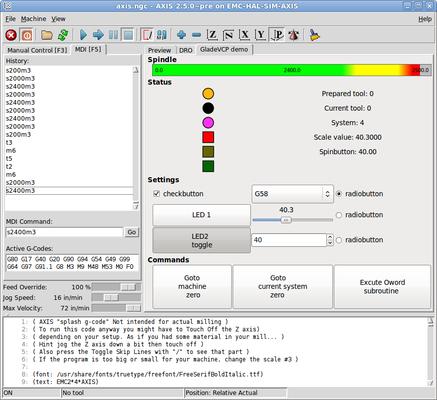 Glade Virtual Control Panel